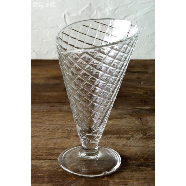 パフェグラス Waffle Cone ( デザートグラス サンデーカップ デザート ガラス カップ アイスクリーム おしゃれ )|wutty