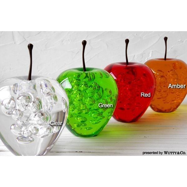 オブジェ アクリル製 りんごの置物 (置き物 ペーパーウェイト)|wutty