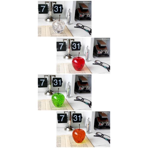 オブジェ アクリル製 りんごの置物 (置き物 ペーパーウェイト)|wutty|03