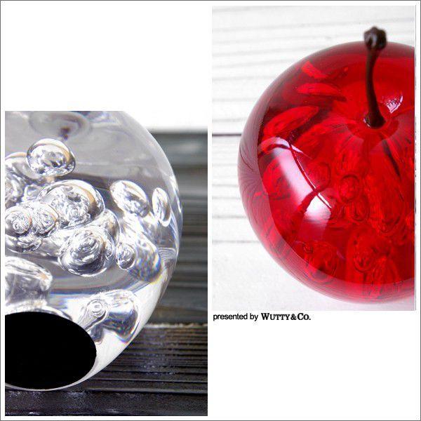 オブジェ アクリル製 りんごの置物 (置き物 ペーパーウェイト)|wutty|04
