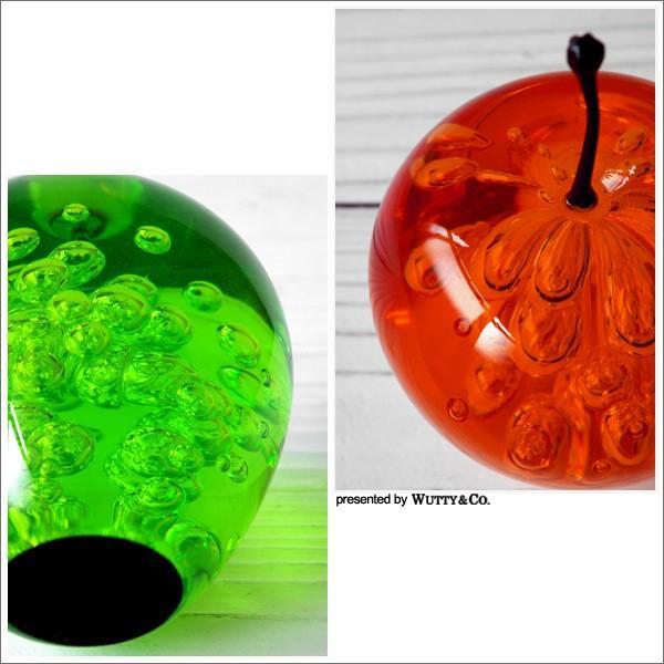 オブジェ アクリル製 りんごの置物 (置き物 ペーパーウェイト)|wutty|05