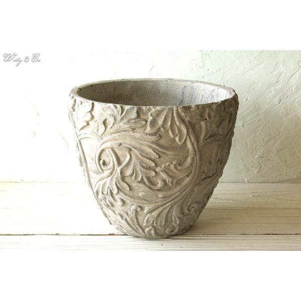 植木鉢 Foliage Relief Pot ( フラワーポット おしゃれ 陶器鉢 アンティーク調 鉢植え )|wutty