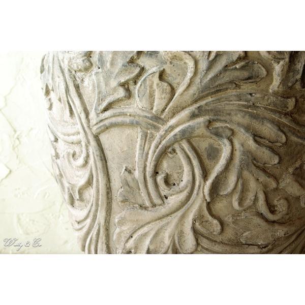 植木鉢 Foliage Relief Pot ( フラワーポット おしゃれ 陶器鉢 アンティーク調 鉢植え )|wutty|02
