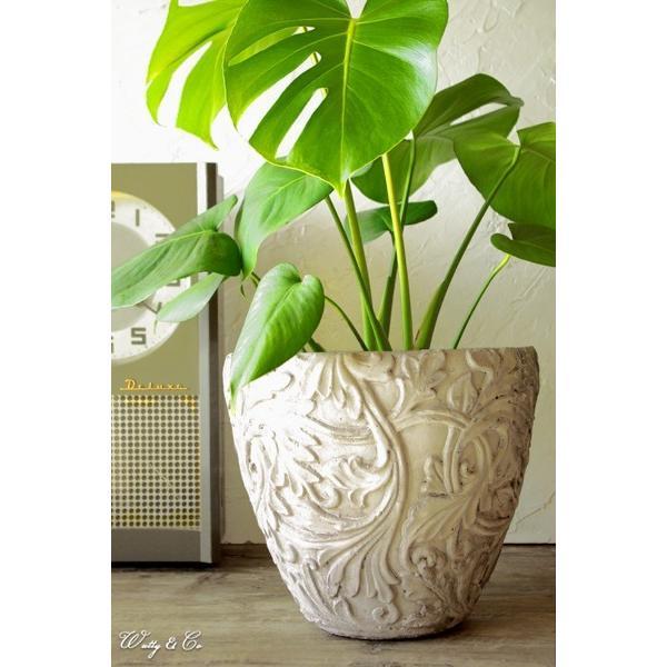 植木鉢 Foliage Relief Pot ( フラワーポット おしゃれ 陶器鉢 アンティーク調 鉢植え )|wutty|05