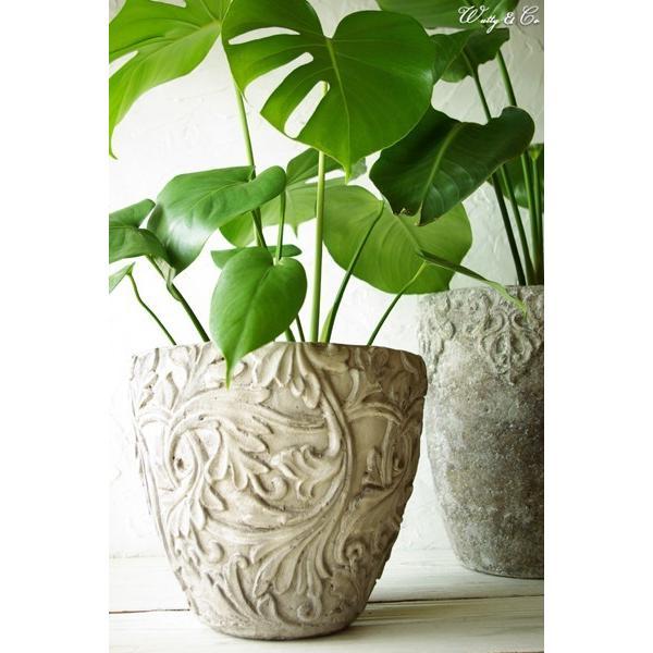 植木鉢 Foliage Relief Pot ( フラワーポット おしゃれ 陶器鉢 アンティーク調 鉢植え )|wutty|06