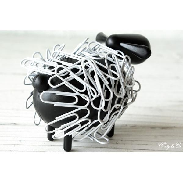 クリップ 収納ホルダー SheepClipper Black マグネット式 ( アニマル ひつじ 文房具 おもしろ おしゃれ 卓上 オブジェ )|wutty|02