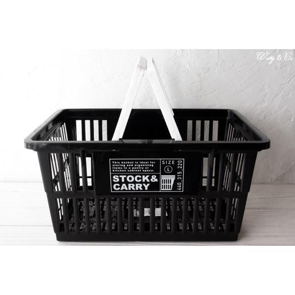 マーケットバスケット GHBA Black L ( 収納かご ランドリー 保存ボックス 買い物カゴ 小物入れ )|wutty