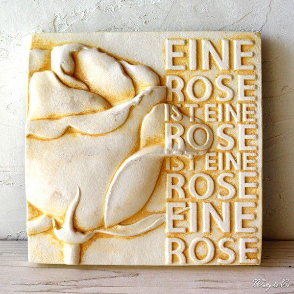 ウォールデコ Interior Plate Rose D (アンティーク調 壁掛け)|wutty