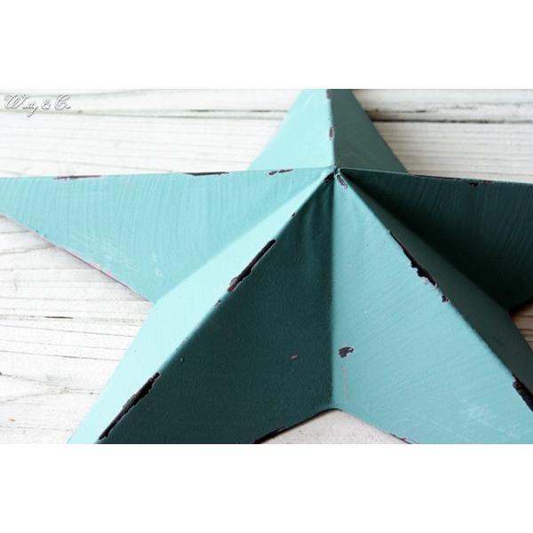 壁飾り STAR L-size Blue ( アンティーク調 置物 壁掛け 星型 オーナメント ブリキ ) KI|wutty|02