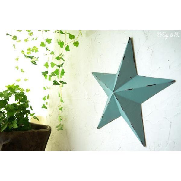 壁飾り STAR L-size Blue ( アンティーク調 置物 壁掛け 星型 オーナメント ブリキ ) KI|wutty|06
