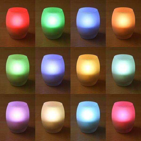 LEDキャンドルライト タマゴ型 12色 リモコン付き ゆらぎモード切替 自動消灯タイマー付き 12色点灯切替 ろうそく 電池式 インテリア ギフト|wystyle|04