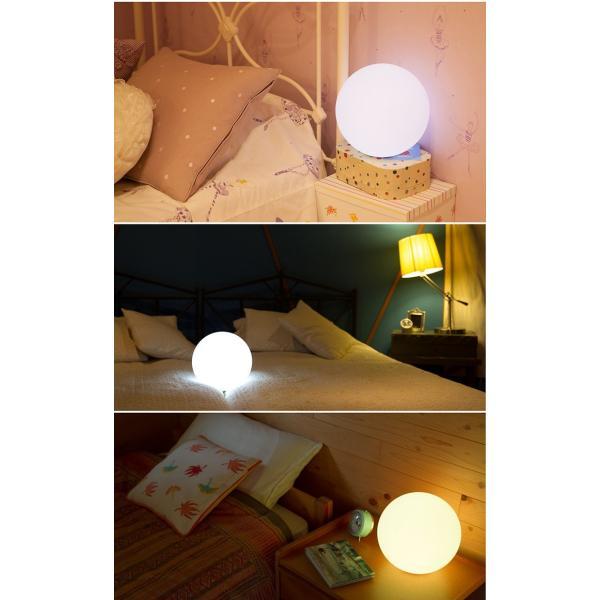 LEDインテリアライト 防水リモコン付き 充電式 自動点灯 消灯タイマー付き 色彩調光 間接照明 浴室 お風呂 屋外 丸い Moonlight ムーンライト ギフト|wystyle|08