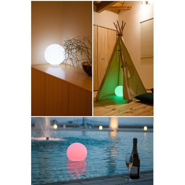 LEDインテリアライト 防水リモコン付き 充電式 自動点灯 消灯タイマー付き 色彩調光 間接照明 浴室 お風呂 屋外 丸い Moonlight ムーンライト ギフト|wystyle|09