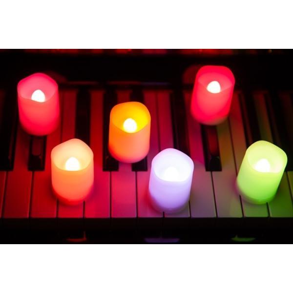 LED ミニキャンドルライト 6個セット 12色点灯 リモコン付き タイマー付き ゆらぎ照明モード切替 ろうそく 電池式 インテリア|wystyle|02
