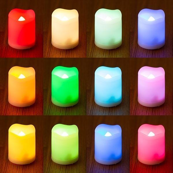 LED ミニキャンドルライト 6個セット 12色点灯 リモコン付き タイマー付き ゆらぎ照明モード切替 ろうそく 電池式 インテリア|wystyle|04