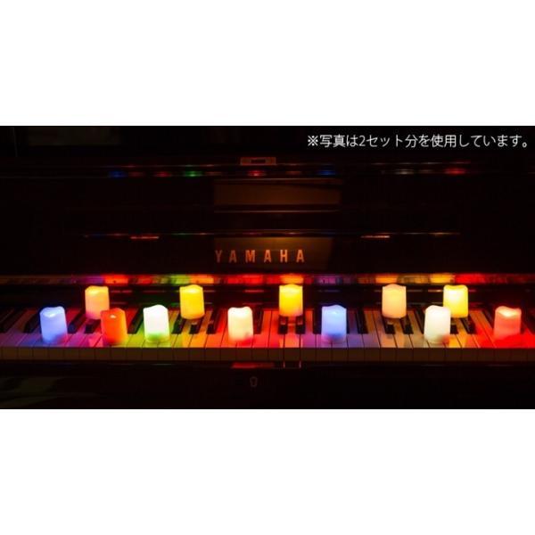 WY LED ミニキャンドルライト 6個セット 12色点灯 リモコン付き タイマー付き ゆらぎ照明モード切替 ろうそく 電池式 インテリア wystyle 07