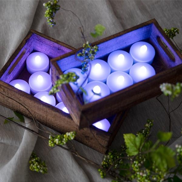 LEDティーライトキャンドル 3個セット 12色調光 リモコン付き ランタン 自動消灯タイマー付き ゆらぎ照明モード 12色で点灯 ろうそく 電池式 インテリア|wystyle|02
