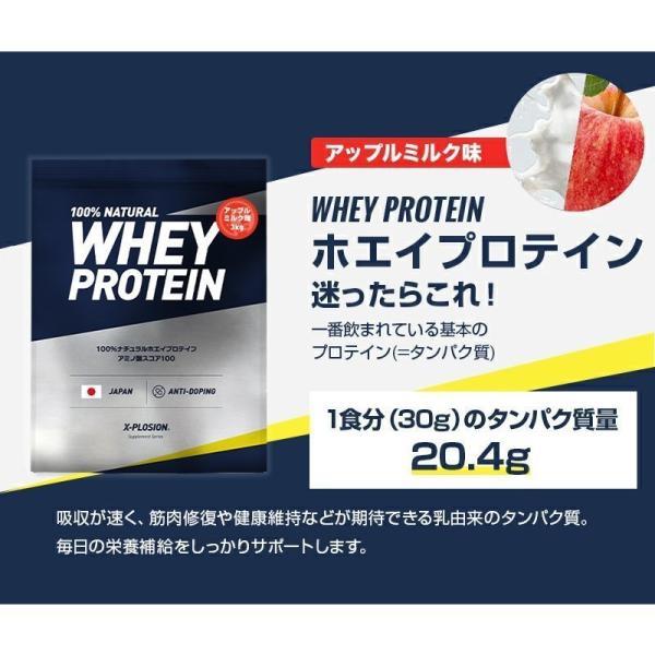 プロテイン エクスプロージョン 100%ホエイプロテイン アップルミルク味 3kg 日本製 男性 女性 X-PLOSION x-plosion 03