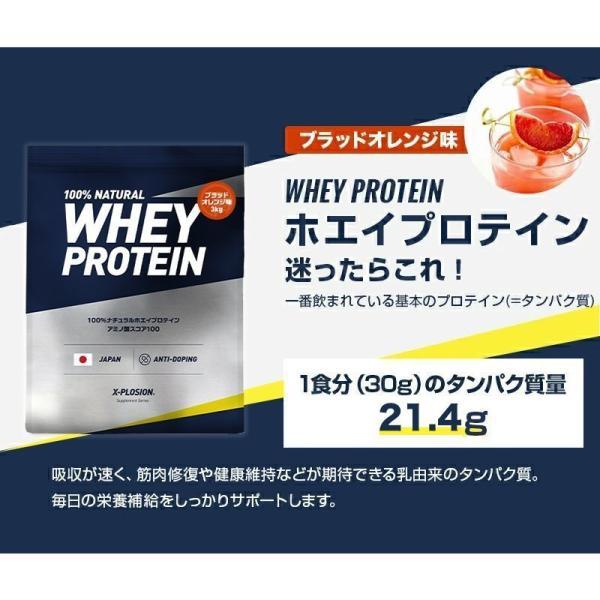 プロテイン エクスプロージョン 100%ホエイプロテイン ブラッドオレンジ味 3kg 日本製 男性 女性 X-PLOSION|x-plosion|03
