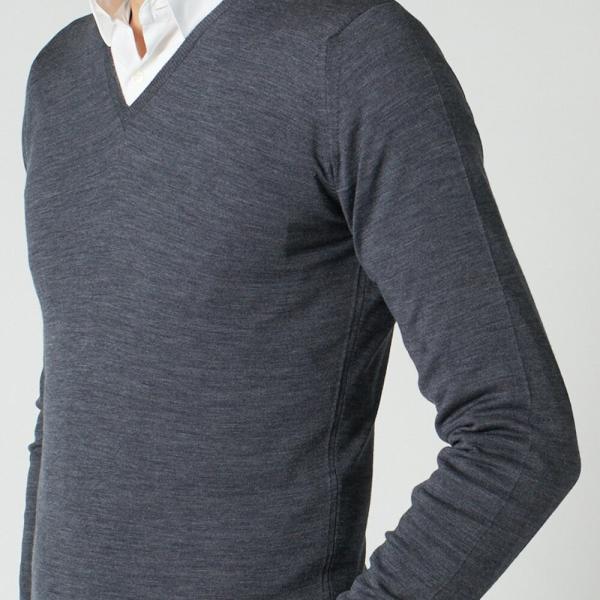 ジョンスメドレー メンズ Vネックセーター ブレナム JOHN SMEDLEY BLENHEIM PULLOVER|x-sell|07