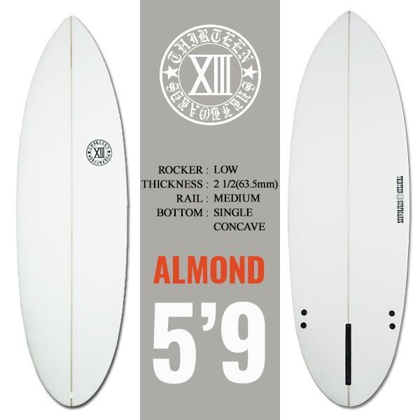サーフボード ショートボード 5'9 ショート AMD シングルフィン付属 サーフィン 13SURF|x-sports