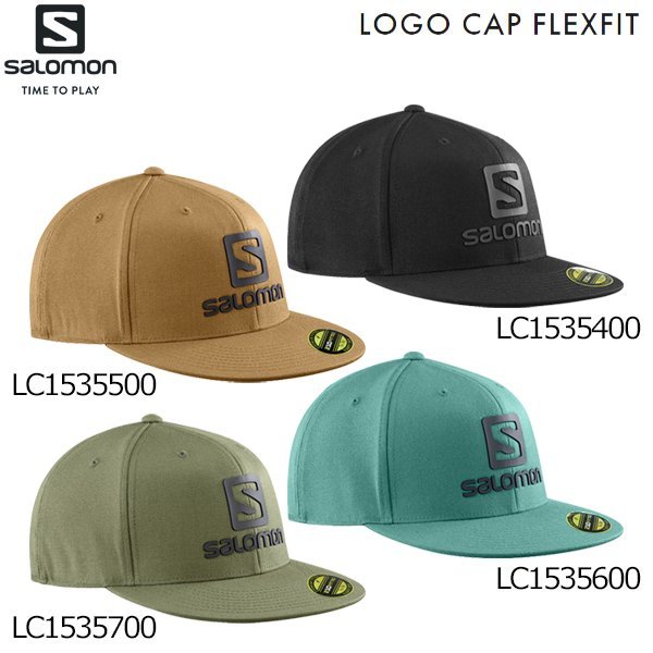サロモンSALOMONヘッドウエア帽子キャップカジュアルロゴキャップフレックスフィットLOGOCAPFLEXFITLC15354
