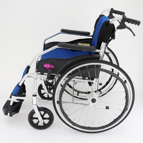 車椅子 軽量 折りたたみ カドクラ チャップス オーシャンブルー A101-AB 自走用 自走介助兼用 送料無料 全10色 kadokura|xenashopping|06