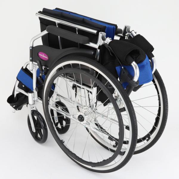 車椅子 軽量 折りたたみ カドクラ チャップス オーシャンブルー A101-AB 自走用 自走介助兼用 送料無料 全10色 kadokura|xenashopping|09
