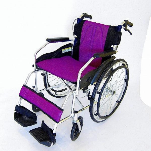車椅子 全10色 自走用 車イス 送料無料 カドクラ KADOKURA チャップス カクテルパープル A101-APP|xenashopping|04