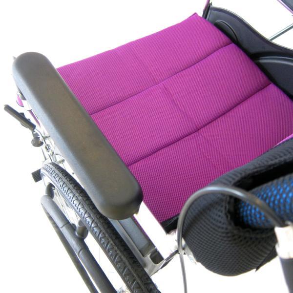 車椅子 全10色 自走用 車イス 送料無料 カドクラ KADOKURA チャップス カクテルパープル A101-APP|xenashopping|05
