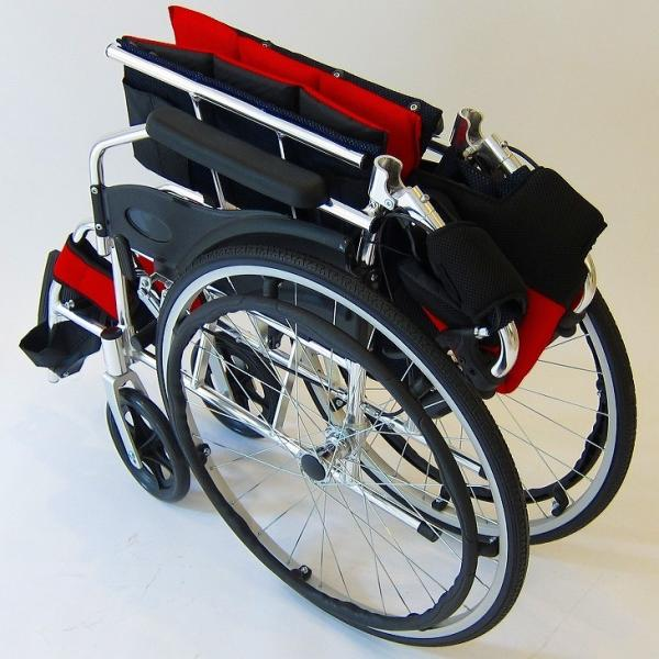 車椅子 全10色 自走用 自走式 車イス 送料無料 カドクラ KADOKURA チャップス イタリアンレッド A101-AR|xenashopping|11