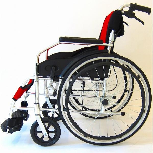 車椅子 全10色 自走用 自走式 車イス 送料無料 カドクラ KADOKURA チャップス イタリアンレッド A101-AR|xenashopping|07