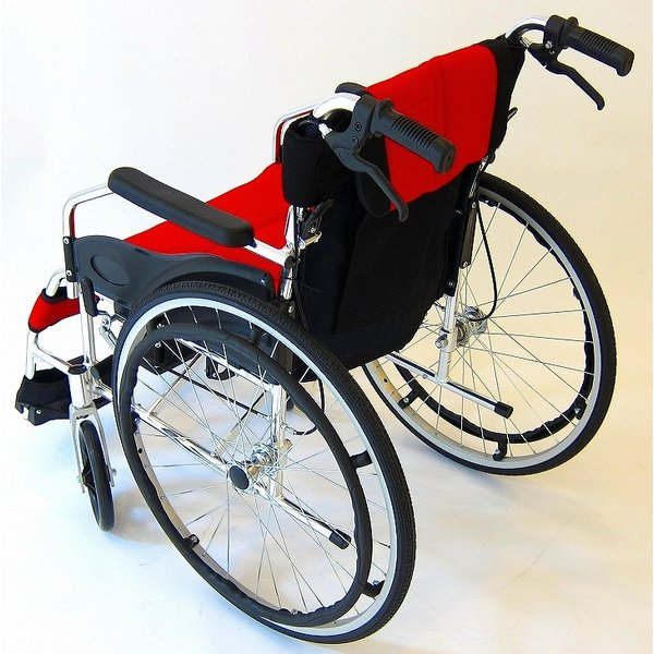 車椅子 全10色 自走用 自走式 車イス 送料無料 カドクラ KADOKURA チャップス イタリアンレッド A101-AR|xenashopping|08