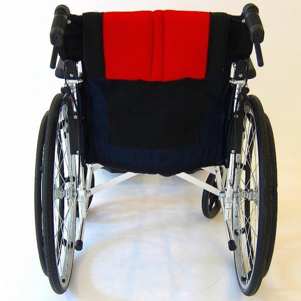 車椅子 全10色 自走用 自走式 車イス 送料無料 カドクラ KADOKURA チャップス イタリアンレッド A101-AR|xenashopping|09