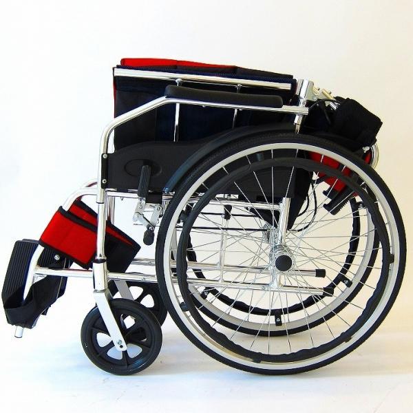 車椅子 全10色 自走用 自走式 車イス 送料無料 カドクラ KADOKURA チャップス イタリアンレッド A101-AR|xenashopping|10