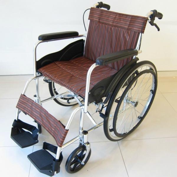 車椅子 全2色 自走用 車イス アウトレット カドクラ KADOKURA チア チョコブラウン A102-CB|xenashopping|02