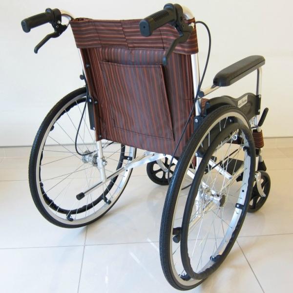 車椅子 全2色 自走用 車イス アウトレット カドクラ KADOKURA チア チョコブラウン A102-CB|xenashopping|03