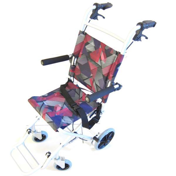 車椅子 全3色 簡易 車イス 送料無料 カドクラ KADOKURA タッチ レッドパープル A502-AKRP|xenashopping|03