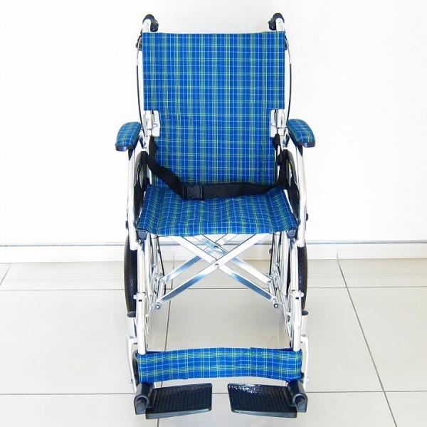 車椅子 全4色 介護用 車イス 送料無料 カドクラ KADOKURA クラウド ブルーチェック A604-ACP xenashopping 03
