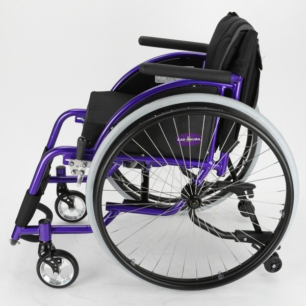 車椅子 自走式 スポーツ 車イス カドクラ KADOKURA ポセイドン A701 パープル|xenashopping|04