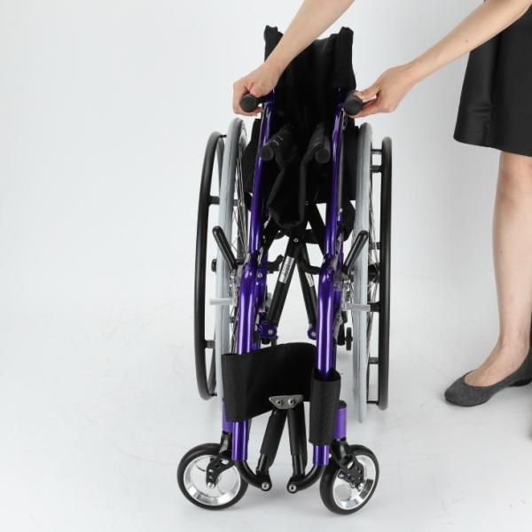 車椅子 自走式 スポーツ 車イス カドクラ KADOKURA ポセイドン A701 パープル|xenashopping|08