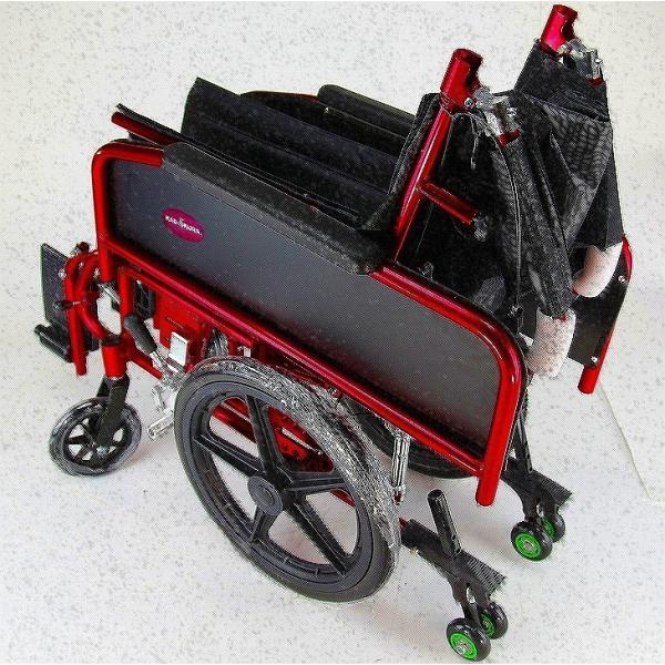 車椅子 全3色 リクライニング 車イス 送料無料 カドクラ KADOKURA アポロン レッド A801-RD|xenashopping|11