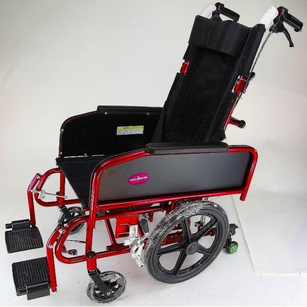 車椅子 全3色 リクライニング 車イス 送料無料 カドクラ KADOKURA アポロン レッド A801-RD|xenashopping|03