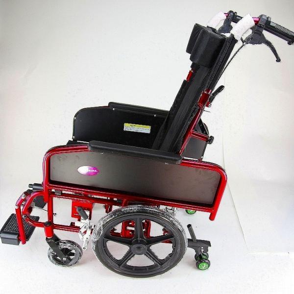 車椅子 全3色 リクライニング 車イス 送料無料 カドクラ KADOKURA アポロン レッド A801-RD|xenashopping|04