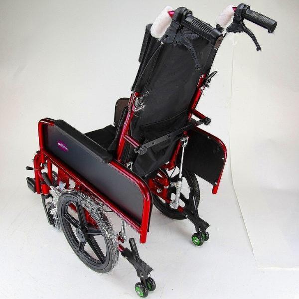 車椅子 全3色 リクライニング 車イス 送料無料 カドクラ KADOKURA アポロン レッド A801-RD|xenashopping|05