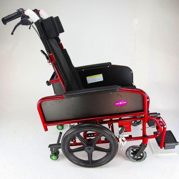 車椅子 全3色 リクライニング 車イス 送料無料 カドクラ KADOKURA アポロン レッド A801-RD|xenashopping|07