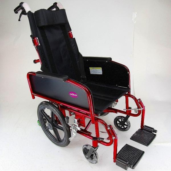 車椅子 全3色 リクライニング 車イス 送料無料 カドクラ KADOKURA アポロン レッド A801-RD|xenashopping|08