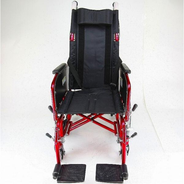 車椅子 全3色 リクライニング 車イス 送料無料 カドクラ KADOKURA アポロン レッド A801-RD|xenashopping|09