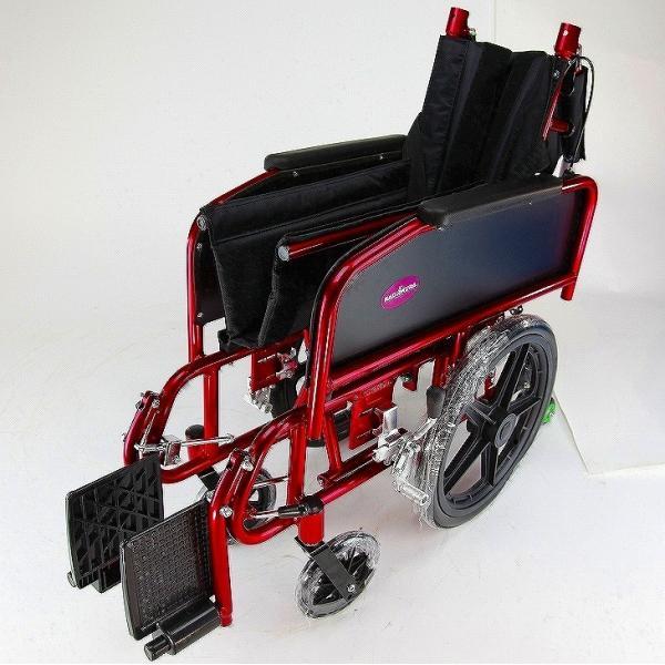 車椅子 全3色 リクライニング 車イス 送料無料 カドクラ KADOKURA アポロン レッド A801-RD|xenashopping|10