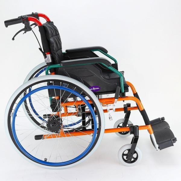 車椅子 自走用 自走式 車イス 軽量 折り畳み 多機能 送料無料 カドクラ KADOKURA スニーカー B104−AS カラフル|xenashopping|04
